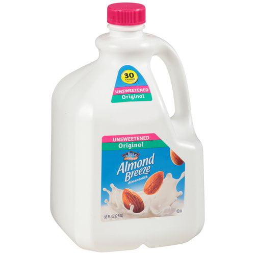 Blue Diamond Almond Breeze Unsweetened Original Almondmilk, 96 oz