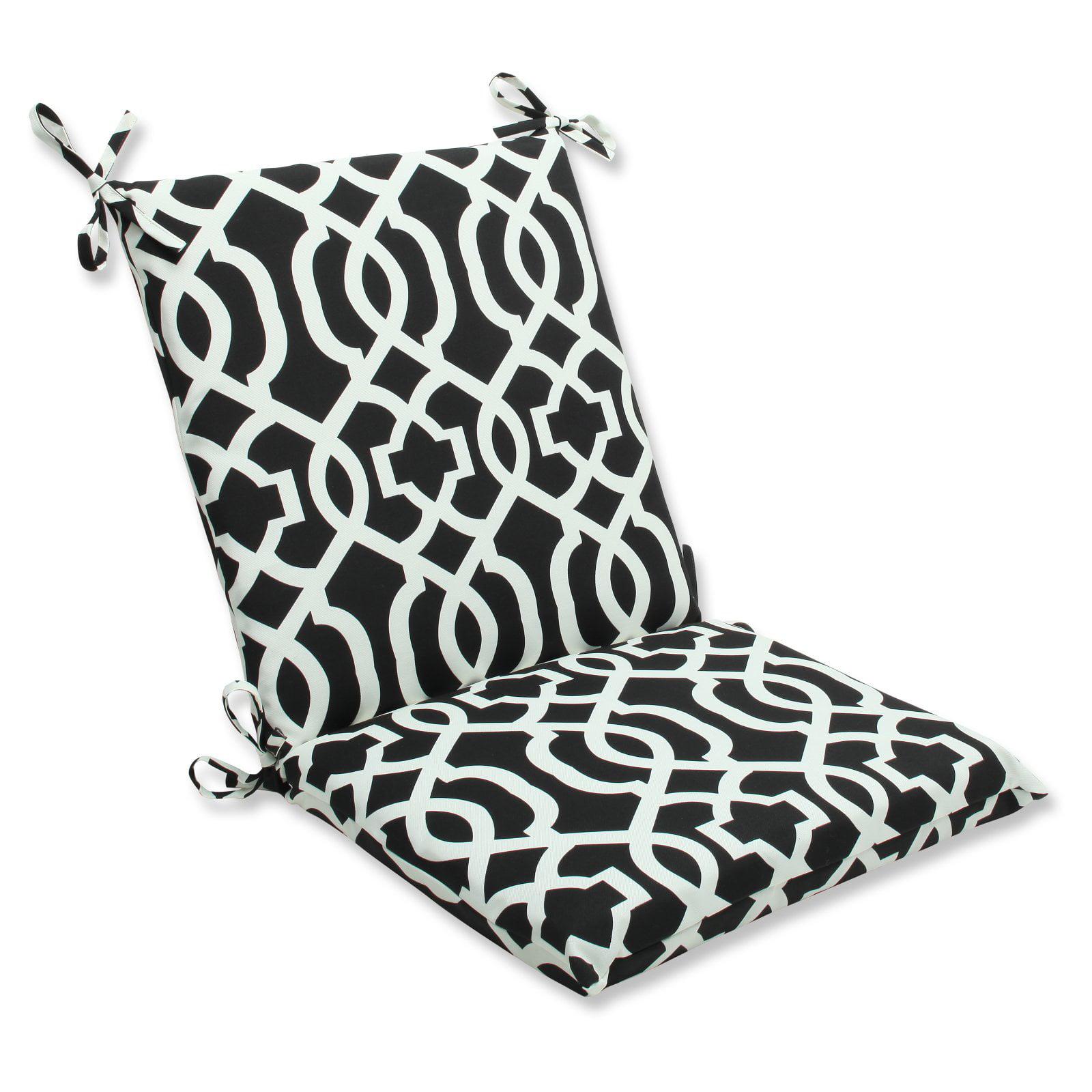 Pillow Perfect Outdoor Indoor New Geo Black White Squared Corners Chair Cushion Walmart Com Walmart Com