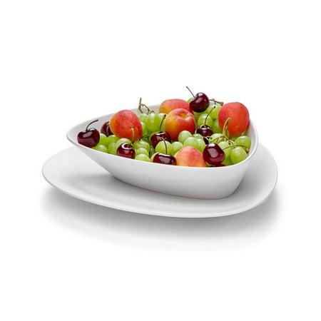 rosseto mel010 black & white large triangle forme melamine bowl, set of 3
