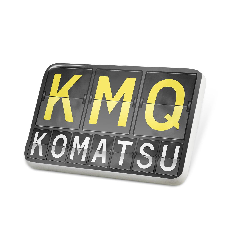 Porcelein Pin KMQ Airport Code for Komatsu Lapel Badge – NEONBLOND