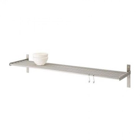Ikea Stainless Steel Wall Shelf 000 114 28 31 5 Inch