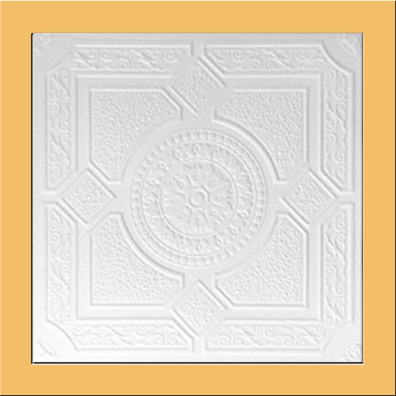 White Styrofoam Ceiling Tile Lima Case Of 40 Tiles Same As