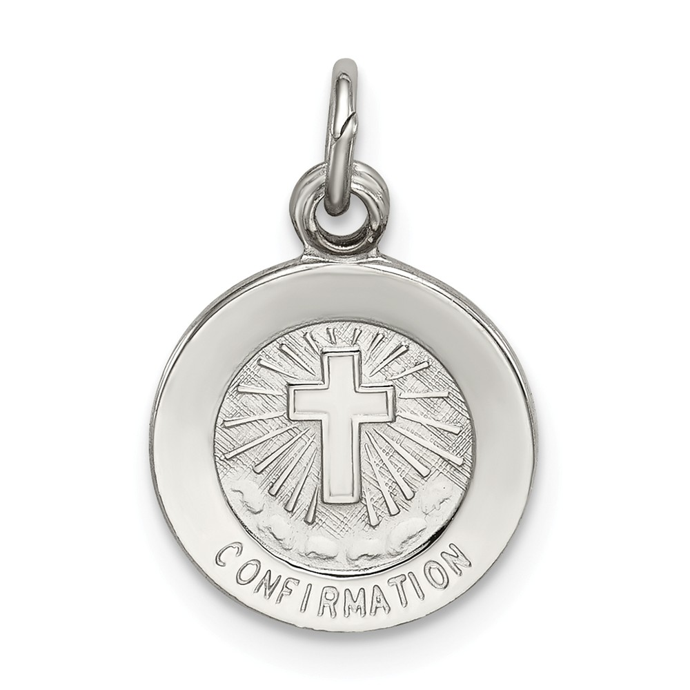 Sterling Silver Engravable Confirmation Medal