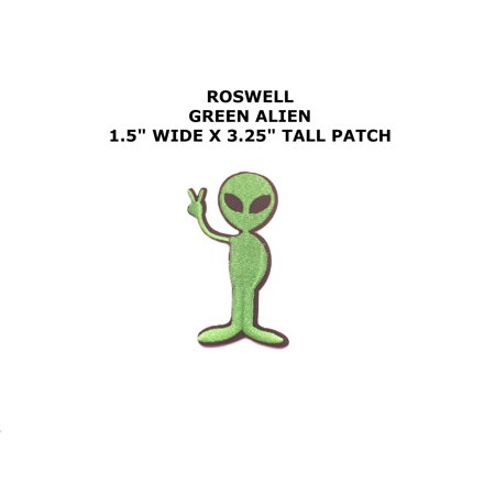 1 X NASA Logos Iron on Patches Alien Peace By Superheroes - Vector Costume