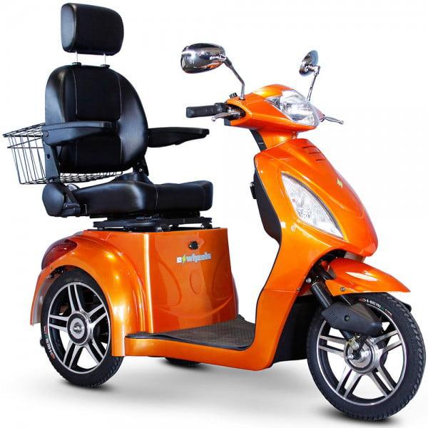 E-Wheels - EW-36 Slowpoke Scooter with Electromagnetic Brakes - 3-Wheel - Orange