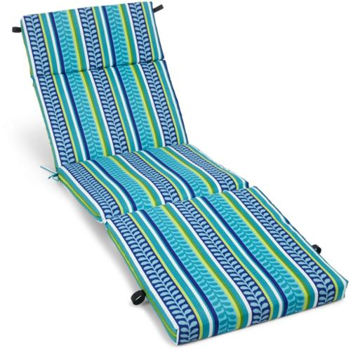 Blazing Needles Floral 72-inch Spun Poly Outdoor Chaise Lounge Cushion by Blazing Needles, L.P.