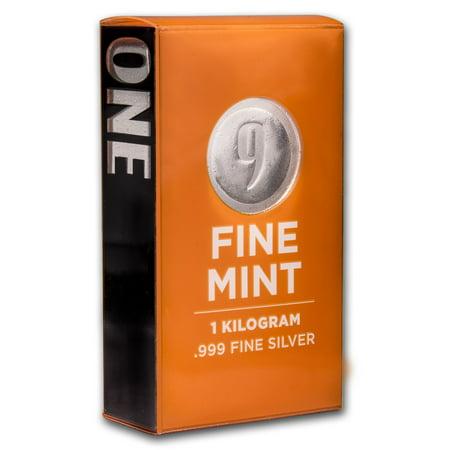 1 kilo Silver Bar - 9Fine Mint