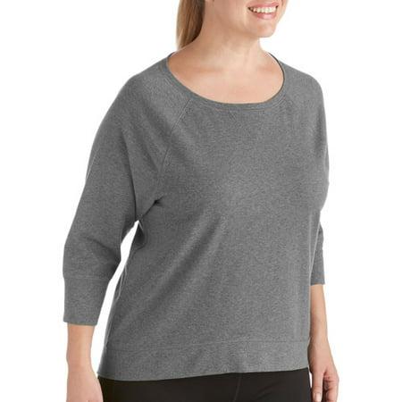 ee329c45c9e05 Danskin Now - Danskin Now Women s Plus-Size 3 4 Sleeve Dolman Tee ...