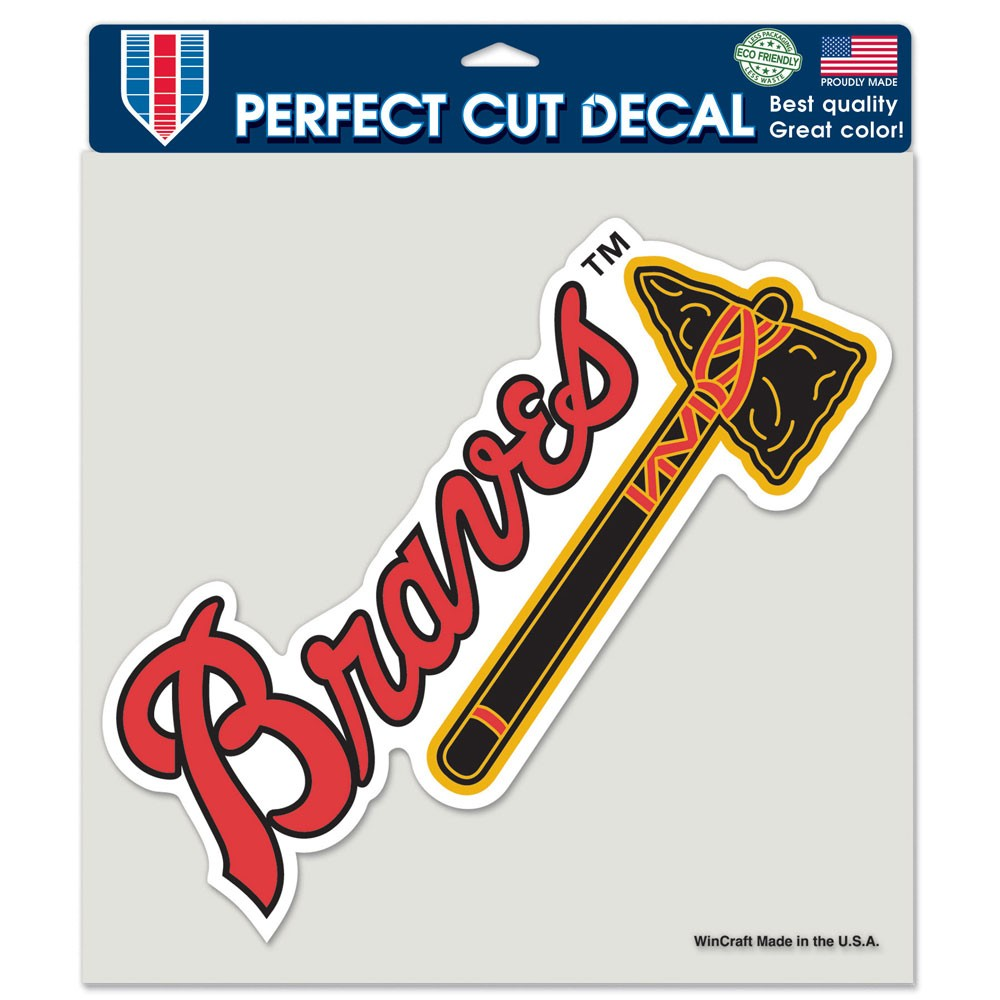 Atlanta Braves Official MLB 8 inch x 8 inch  Die Cut Car Decal by Wincraft