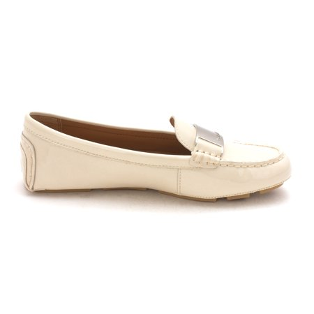 0c476d114bd Calvin Klein Womens Lisette Leather Round Toe Loafers - image 1 of 2 ...