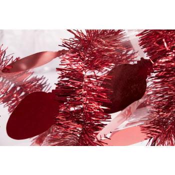 TINSEL GARLAND-9' BULBS-RED 12 PACK](Bulk Tinsel)