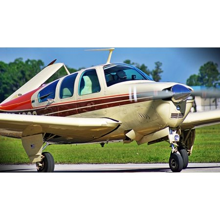 Airplane Single Engine (LAMINATED POSTER Aviation Airplane Flying Single Engine Aircraft Poster Print 24 x 36 )
