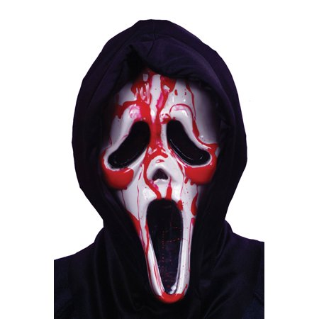 Scream Mask with Blood and Pump Adult Halloween Accessory (Scream Mask For Sale)
