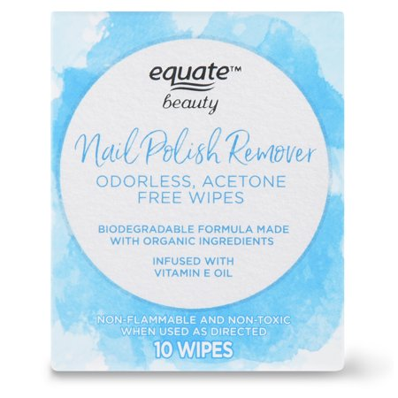 Equate Beauty Nail Polish Remover Wipes, 10 Count