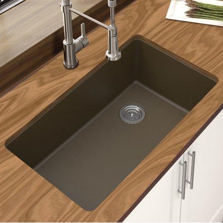 Winpro Granite Quartz 33'' L x 18.75'' W Single Bowl Undermount Kitchen Sink Bowl Granite Composite Kitchen Sink