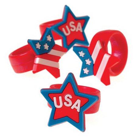 (Price/Dozen)US TOY 2290 Patriotic Rubber Rings