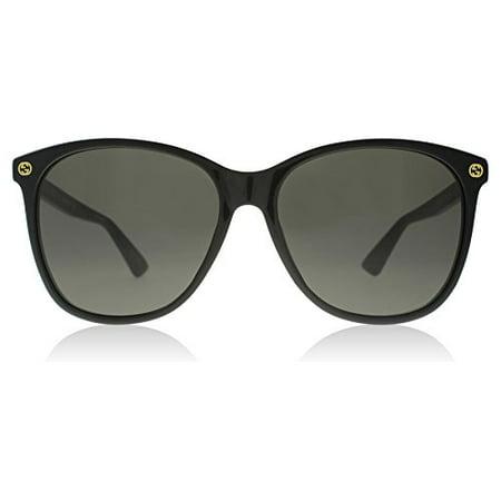 acdfc5433d8 Gucci - 0024S 001 Black 0024S Round Sunglasses Lens Category 3 Size 58mm -  Walmart.com