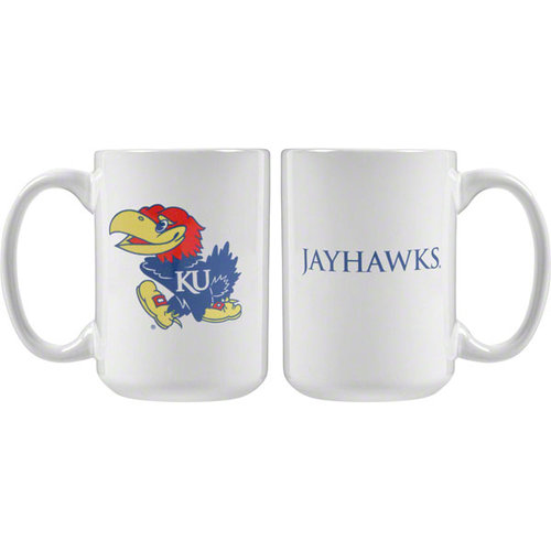 NCAA - Kansas Jayhawks 15 oz. White Mug