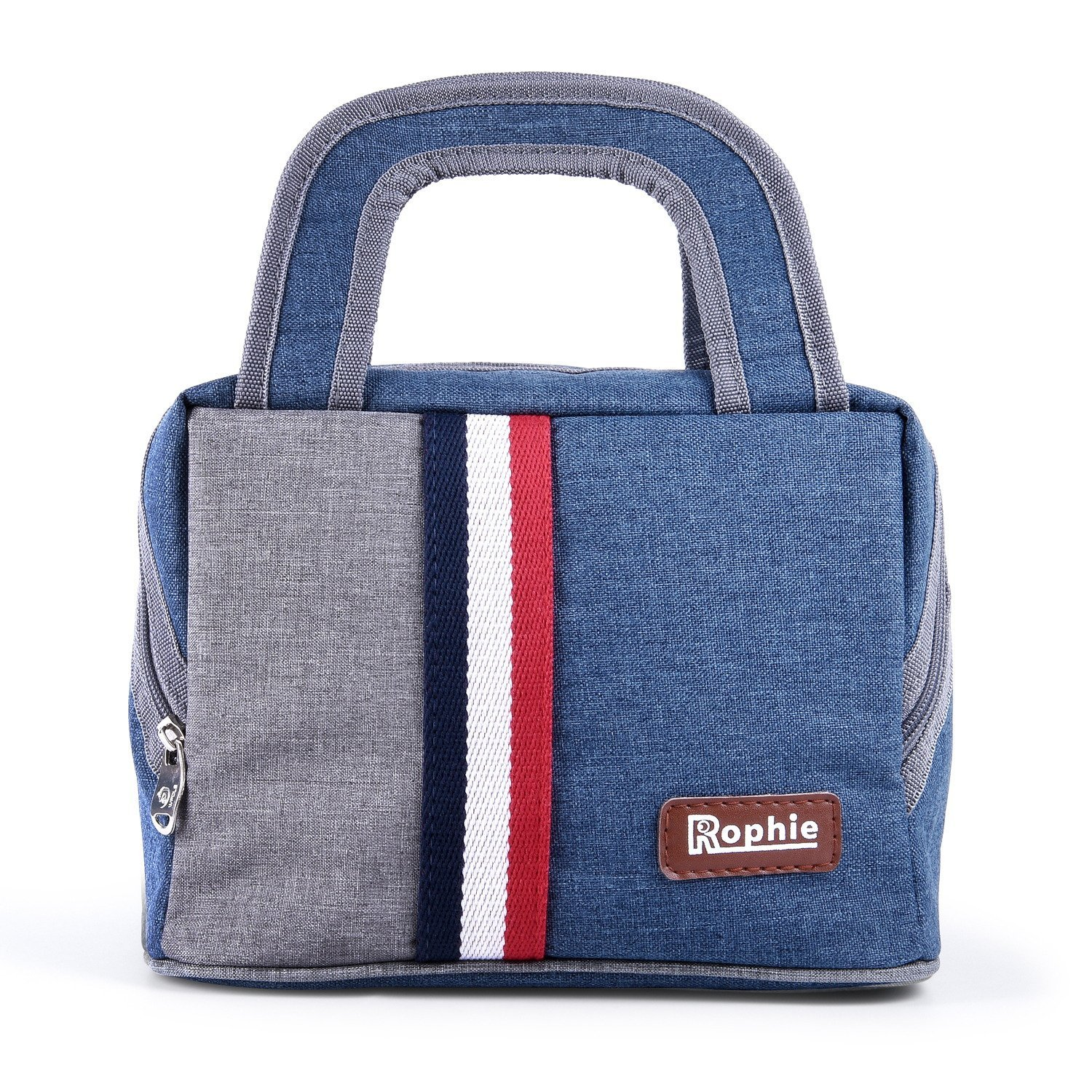 Insulated Lunch Bag, Rophie Reusable Outdoor Byo Lunch Bag Travel Picnic School Bento Large Lunch Box Tote Bag for Women, Men and Kids (7.5L)