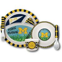 Michigan Wolverines Kid's Dinnerware Set