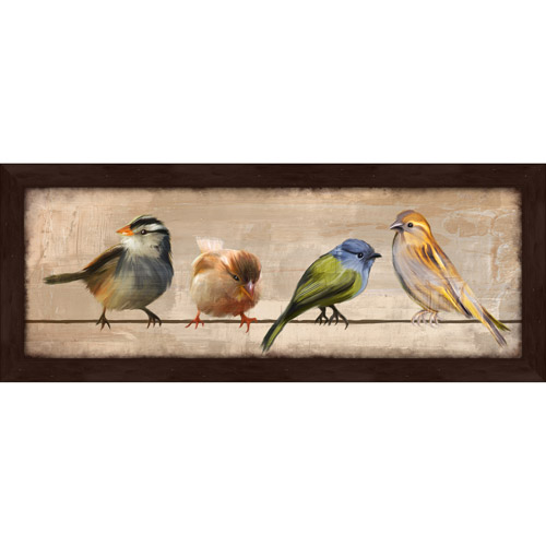"PTM Images, Birds in a Row II, 23.5"" x 9.5"" Decorative Wall Art"