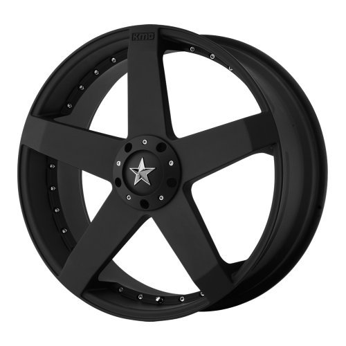KMC Wheels Rockstar Car KM7757 Matte Black Finish Wheel (...