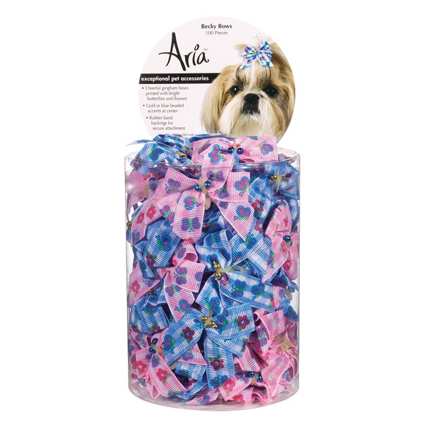 Aria Becky Bow Canister 100pk