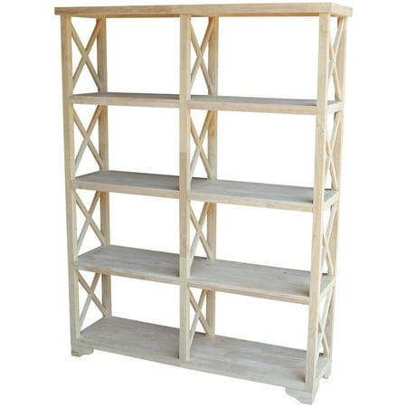 71.9u0022 8 Shelf Room Divider Unfinished - International Concepts