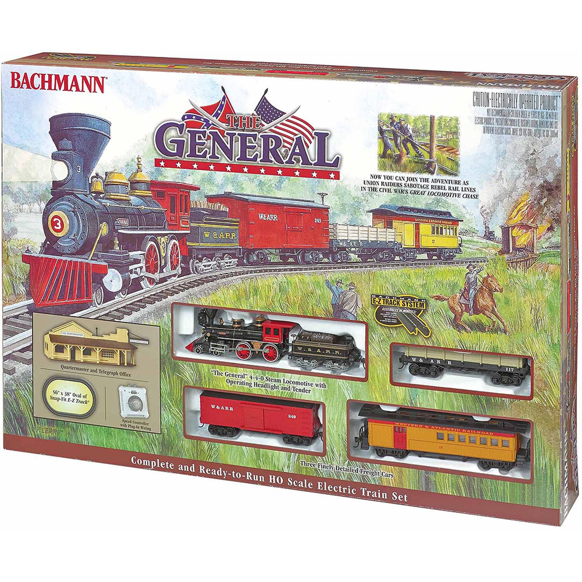 Bachmann Trains The General, HO Scale Ready-To-Run Electric Train Set