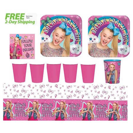 JoJo Siwa Party Supply Kit for 16 - Shipped Fedex Express - Discount Party Supply Coupon