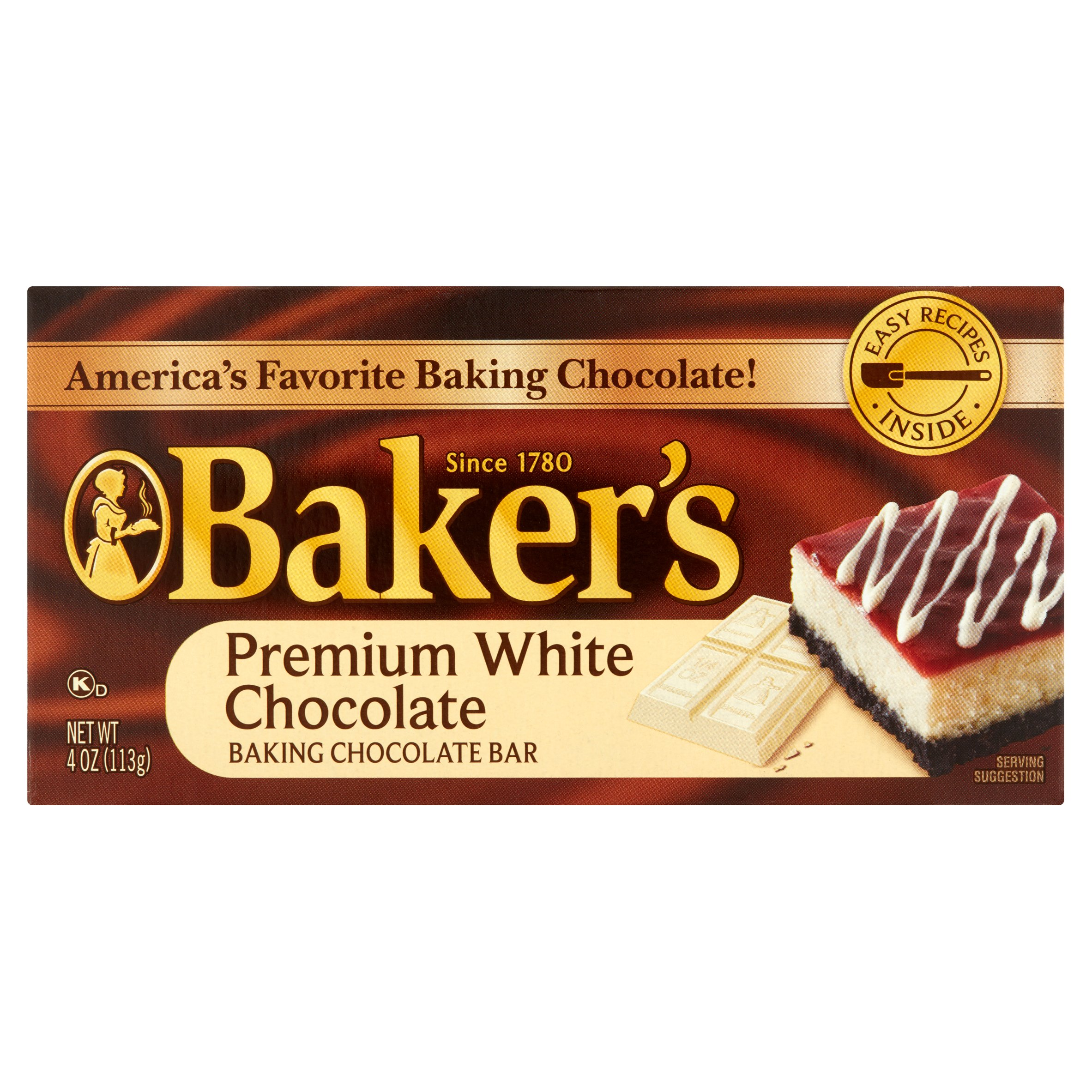 Baker's Premium White Chocolate Baking Chocolate Bar, 4 Oz by Kraft Foods Group, Inc.