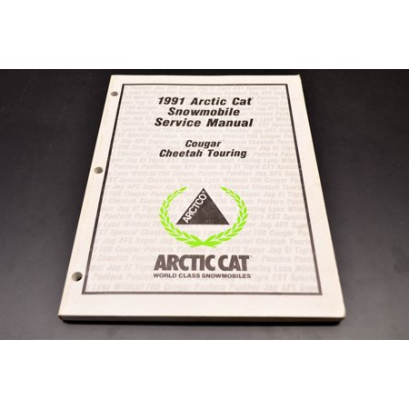 Car Service Manual - Arctic Cat 2254-645 1991 Cougar Cheetah Service Manual QTY 1