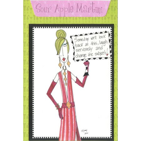 Pictura Sour Apple Martini Dolly Mama Funny / Humorous Recipe Birthday Card