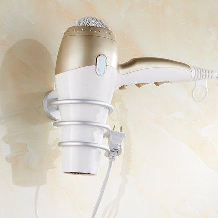 Meigar Spiral Bathroom Wall-Mounted Iron Stand Hair Blow Dryer Holder Blower Bracket