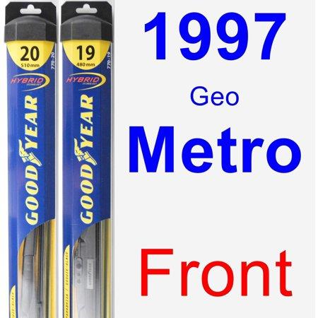 1997 Geo Metro Wiper Blade Set/Kit (Front) (2 Blades) - Hybrid 1997 Geo Metro Replacement