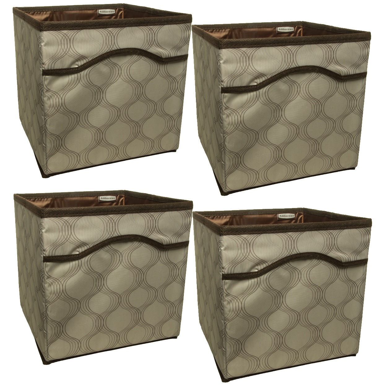 4 Pack Rubbermaid Collapsible Beige Canvas Basket Storage Containers Cubes Bins Folding Set  sc 1 st  Walmart & 4 Pack Rubbermaid Collapsible Beige Canvas Basket Storage Containers ...