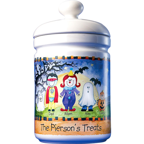 Personalized Halloween Family of Characters Treat Jar