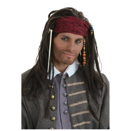 Authentic Pirate Wig (Buccaneer Pirate Wig)