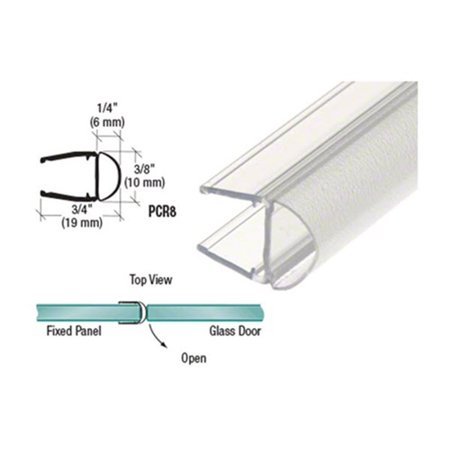 "Translucent Vinyl Bulb Seal for 5/16"" Glass, 98 (2.49 m) Stock Length By CRL"