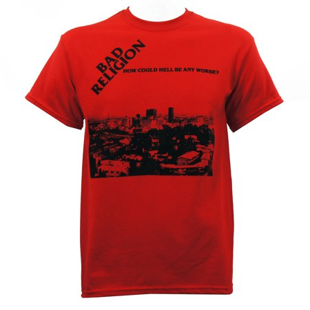 Bad Religion Men's How Could Hell Be Any Worse T-Shirt Red - Hell On Heels Halloween Shirt