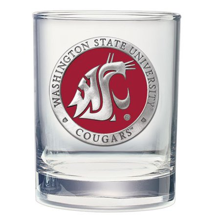 Cougars Glass (Washington State Cougars Double Old Fashioned Glass)