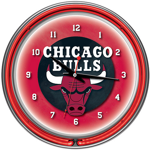 "Chicago Bulls NBA 14"" Neon Wall Clock"