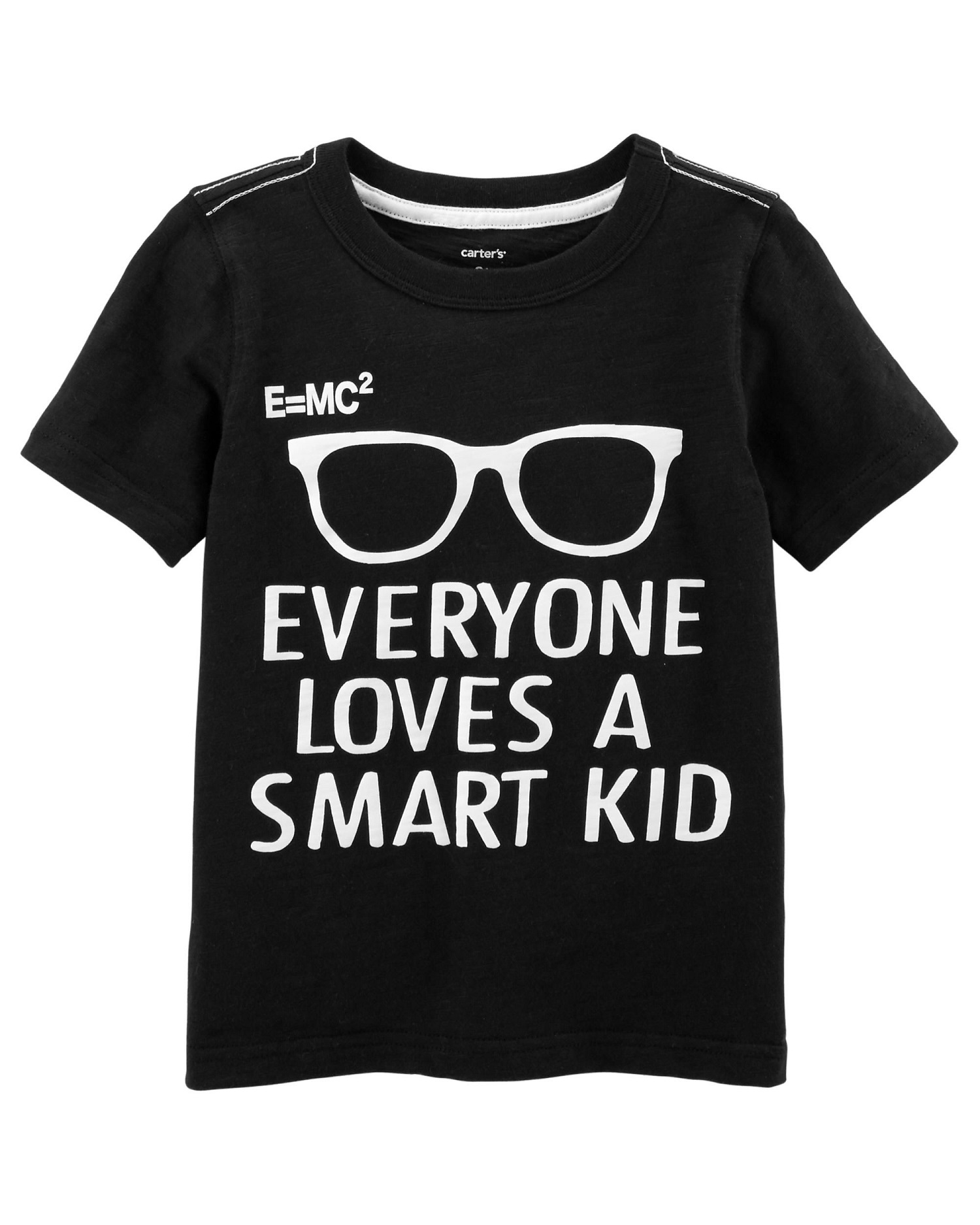 Carter's Little Boys' Smart Kid Slub Jersey Tee, 5-Toddler
