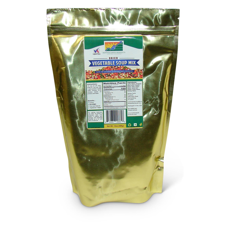 Dehydrated Vegetable Soup Blend, 1 full quart Mylar Bag