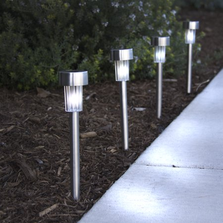 Best Choice Products Solar Stainless Steel Led Path Lights