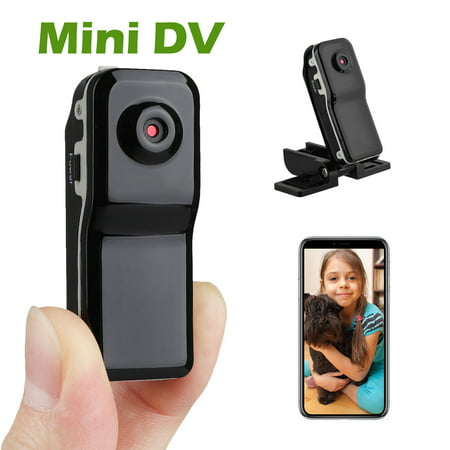 HD Camera Mini DV DVR , EEEKit Wireless Portable Mini Nanny Cam with Clip-On Adapter, Perfect Small Security Camera for Indoor and