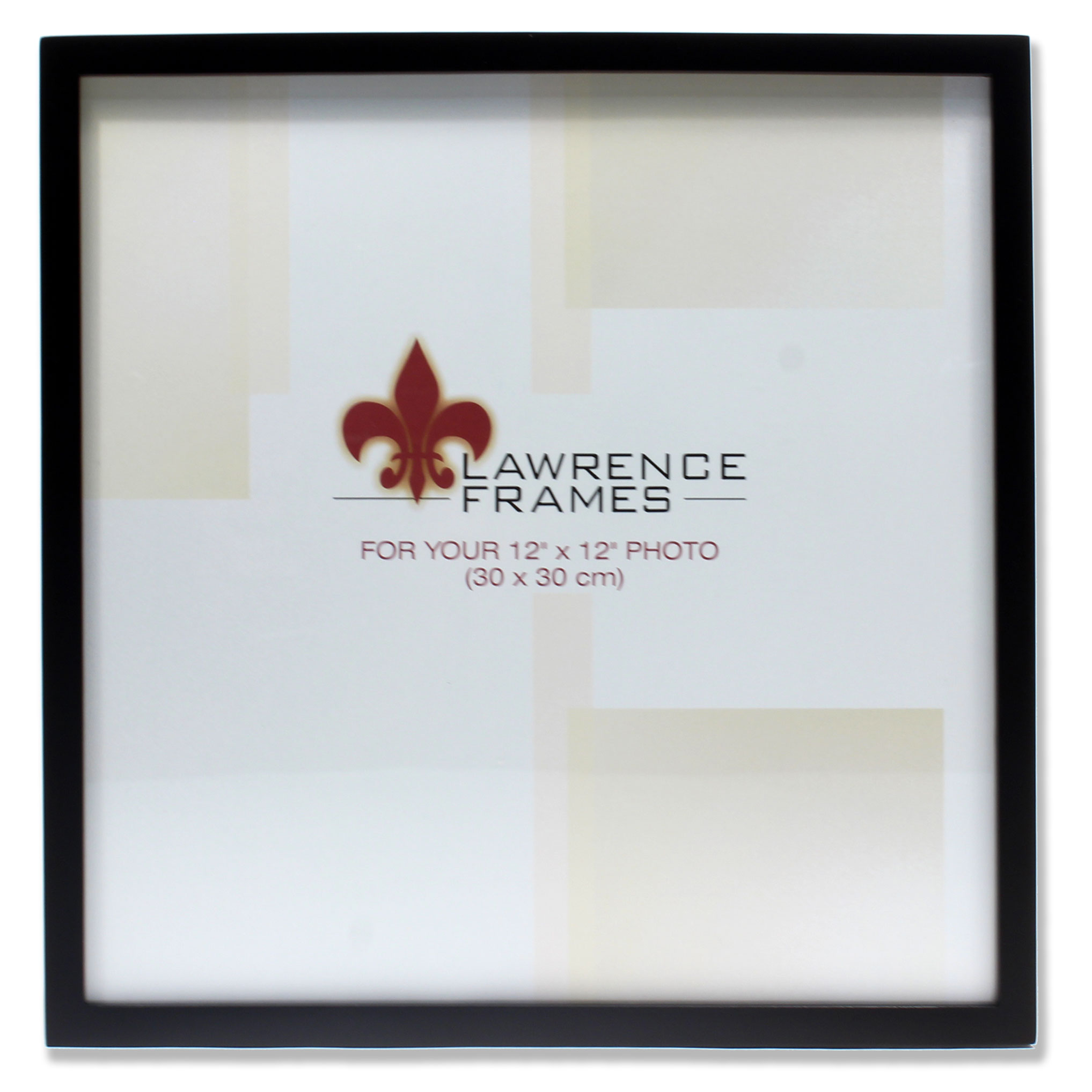 755512 Black Wood 12x12 Picture Frame by Lawrence Frames