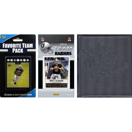 C&I Collectables NFL Oakland Raiders Licensed 2014 Score Team Set and Favorite Player Trading Card Pack Plus Storage Album