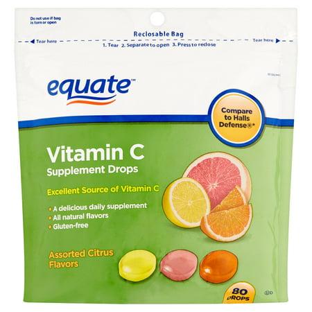 Saveurs d'agrumes assortis supplément de vitamine C gouttes 80 count