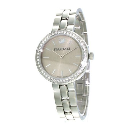 Clear Crystal Petrol DAYTIME Swiss Watch Stainless Steel